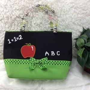 Vivary Green & Black Handbag Tote.